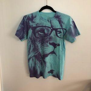 5/$25 Glamour Kills Lion Glasses Crewneck TShirt S
